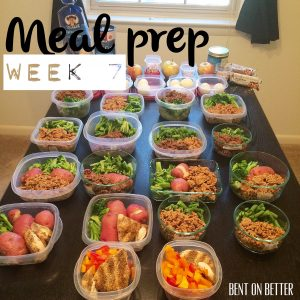 Meal Prep week 7 - Bent On Better  (BentOnBetter) Matt April Better Eating For The Best You Update 2