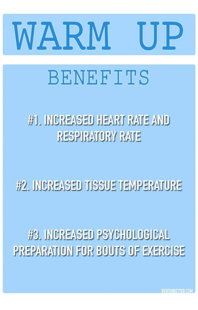 The Top 3 Benefits of Warming up - Bent On Better BentOnBetter - Matt April NASM National Academy Of Sports Medicine. ACSM NCCPT, trainer. Certified personal trainer