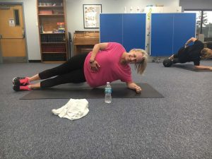 Barbara - West Chester area mom - side plank