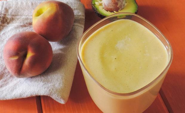 Healthy Peach Protein Smoothie