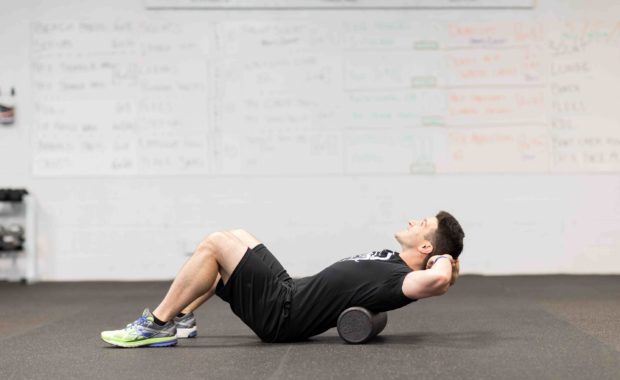 Matt-April_-How-To-Foam-Roll-Your-Upper-Back_-Bent-On-Better-gym-West-Chester-PA-personal-training