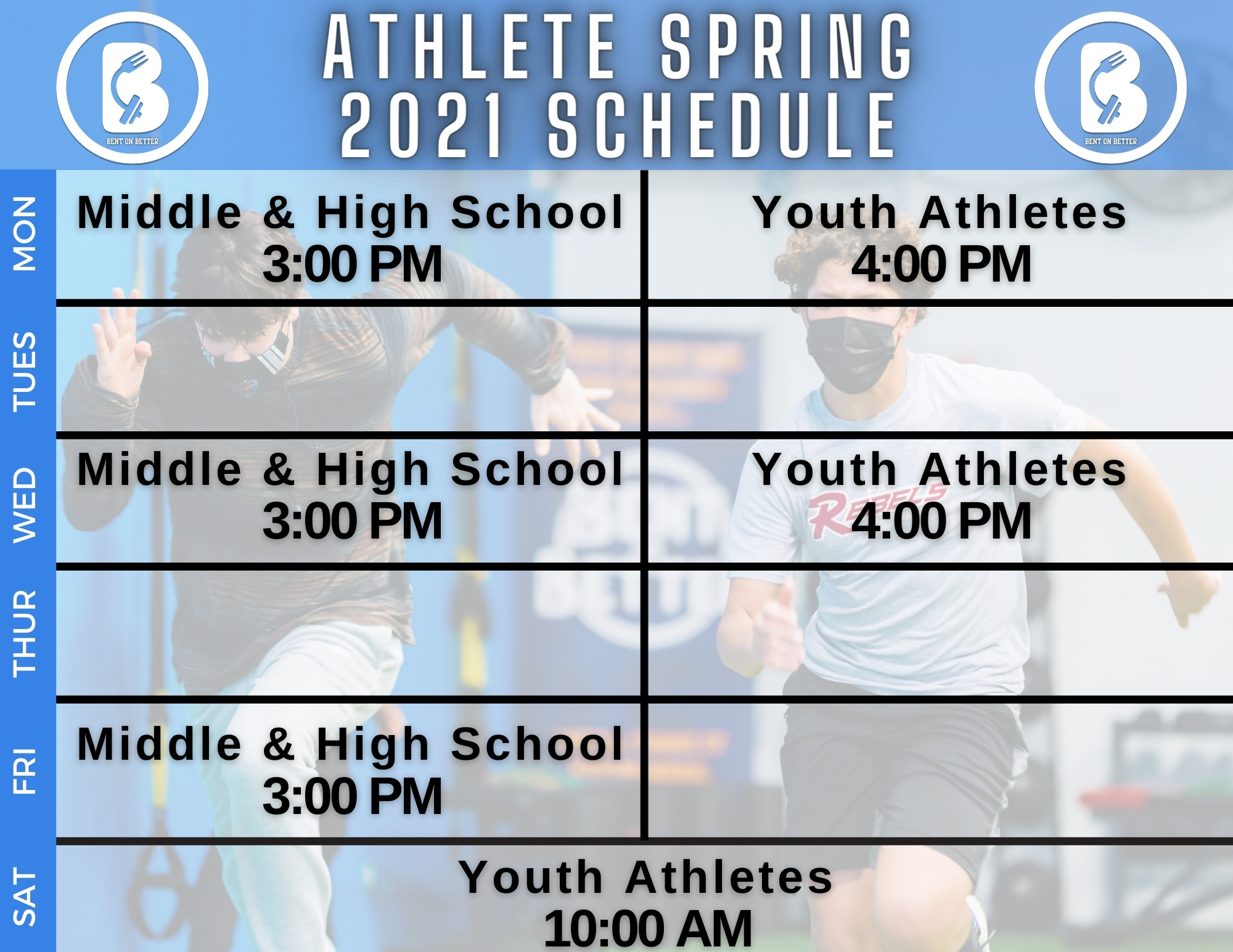 Athlete Schedule Bent On Better