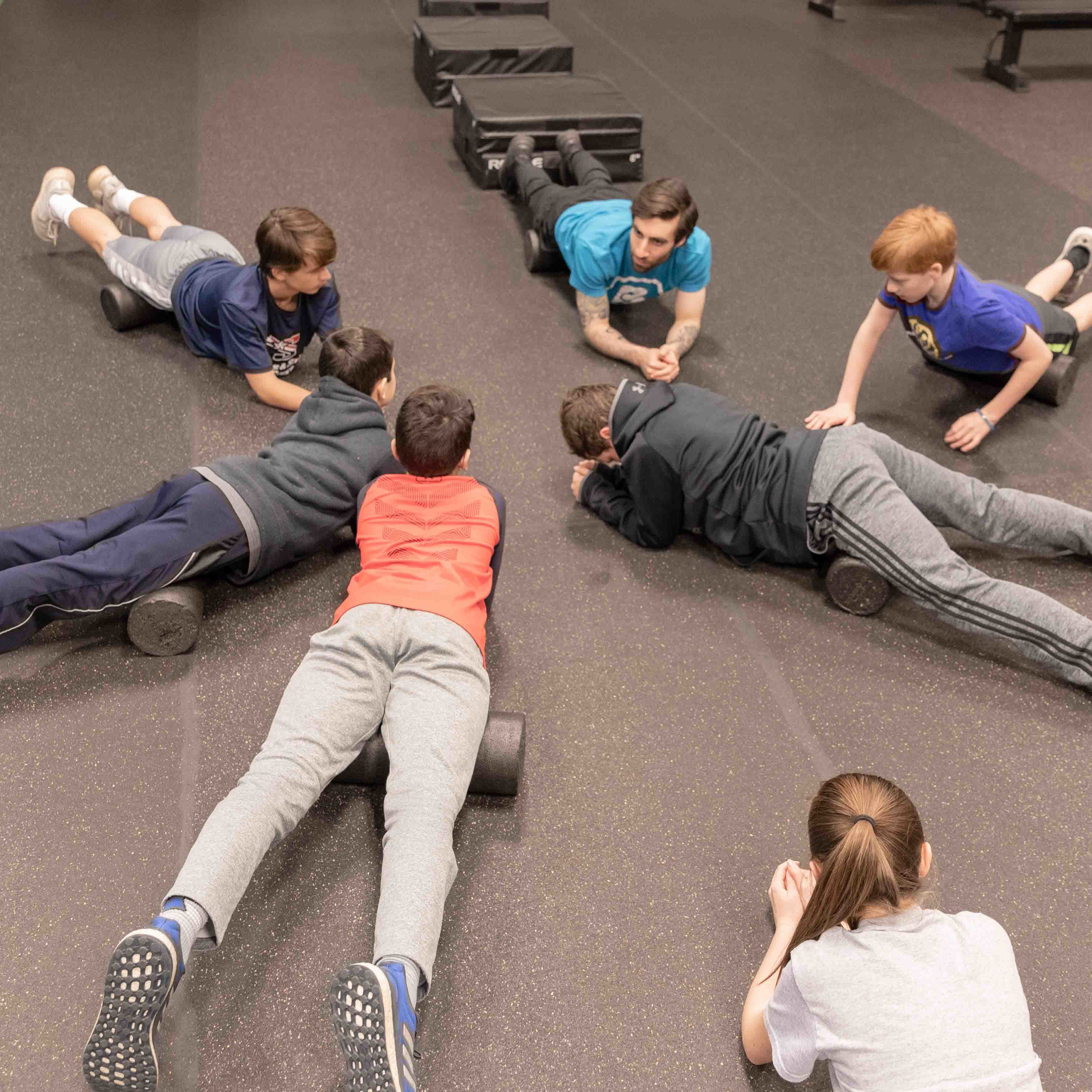 Athletic Development workout for kids_Bent On Better personal training in West Chester PA _rolling